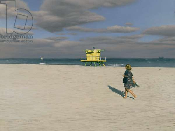 Miami Beach I, 1999 (oil on panel)
