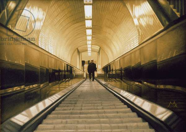 Escalator, 2006 (oil on canvas)