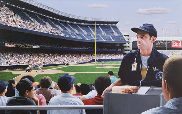 Yankee Stadium, 1992 (oil on panel)