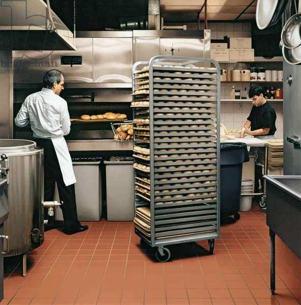 Bagel Bakery, 1996 (oil on panel)