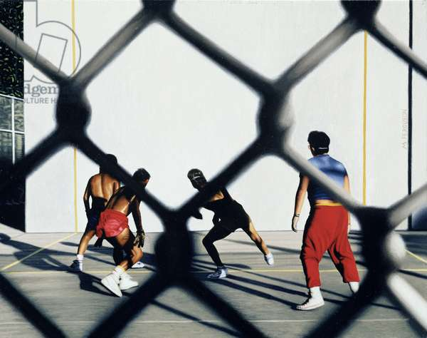 Handball Players (Coney Island) 2002 (oil on canvas)