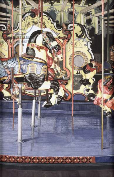 Carousel II, 1990 (w/c on paper)