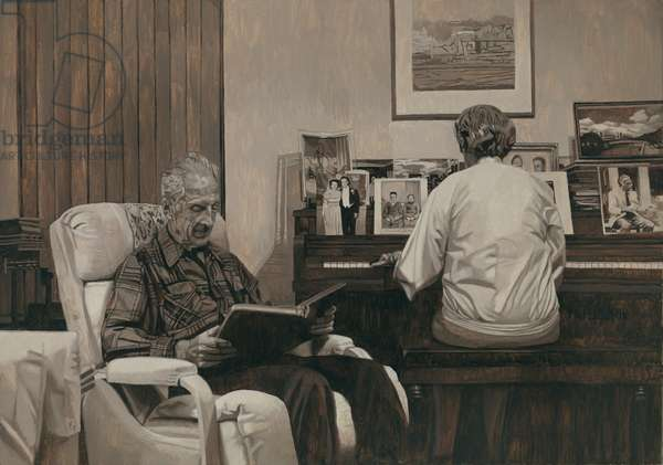 My Parents in the Living Room, 2011 (oil on panel)