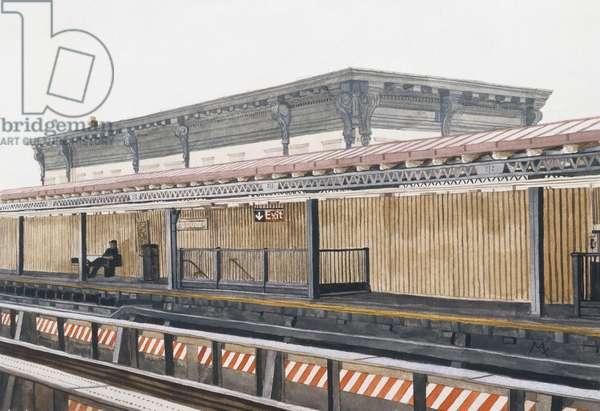 Train Platform (w/c on paper)