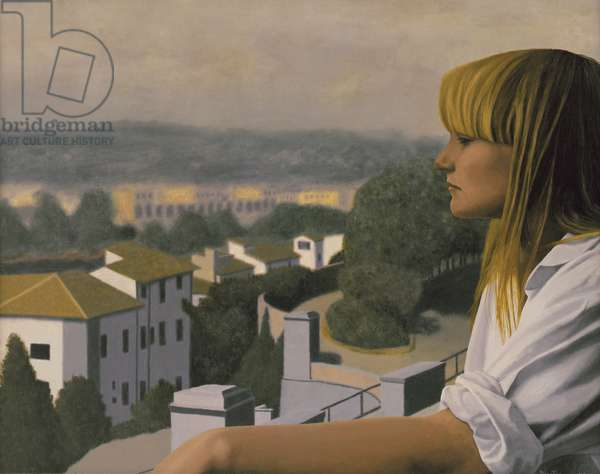 Woman in Florence, 1980 (oil on panel)