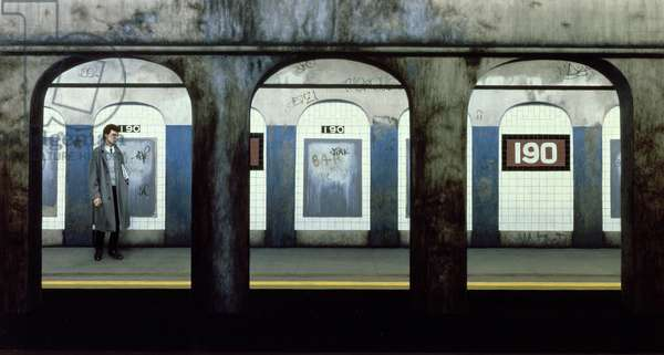 190th Street, 1982 (oil on panel)