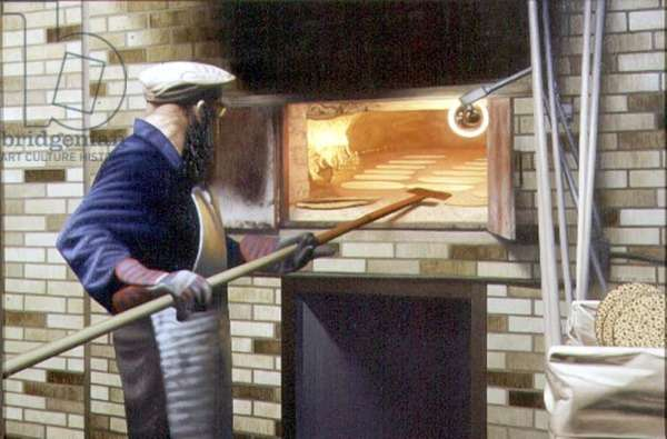 Matzo Bakery, 1996 (oil on canvas)