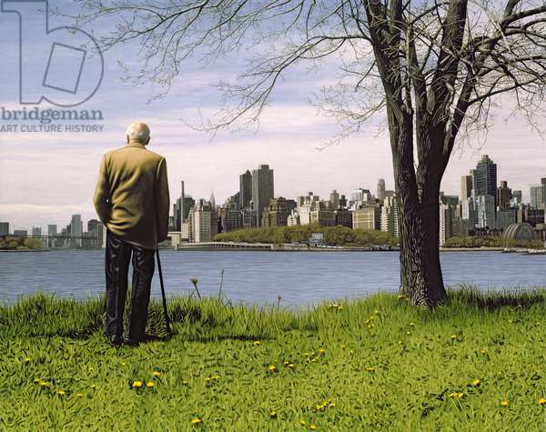 Man with Cane, 2007 (oil on panel)