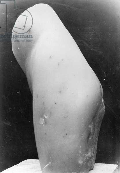 A version of Torso (destroyed) in the studio, 1909-10 (vintage gelatin silver print)