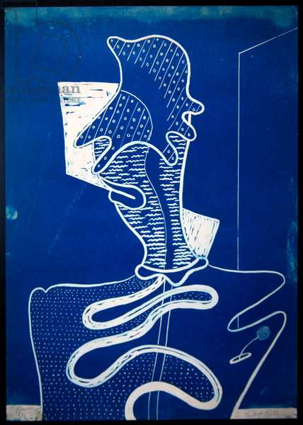 The Art Critic, 1931 (cyanotype)