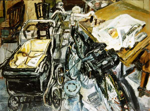 The Bicycle - Interior (oil on board)