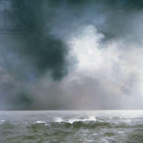 Sea Piece (Wave), 1969 (oil on canvas)