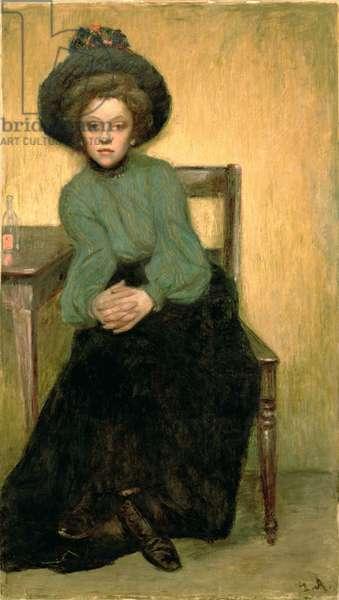 After Absinthe, c.1900 (oil on cardboard)