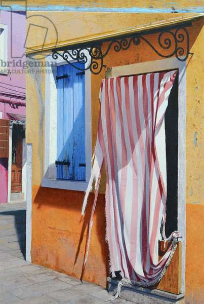Colours of Burano (oil on panel)