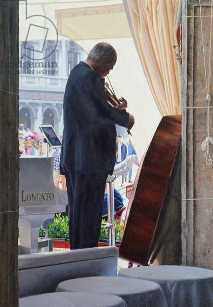 Warming up San Marco (oil on panel)
