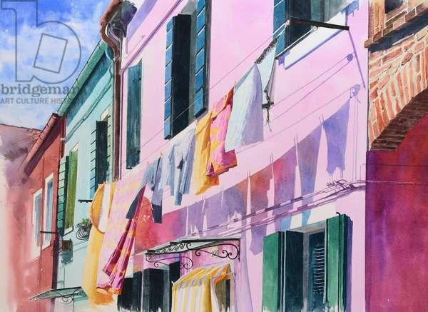 Burano (watercolour on paper)