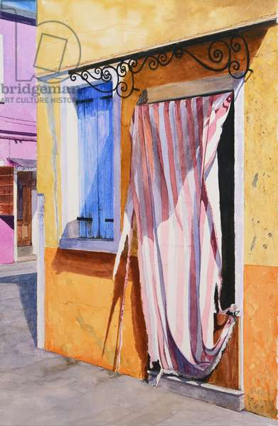 Burano house (watercolour on paper)
