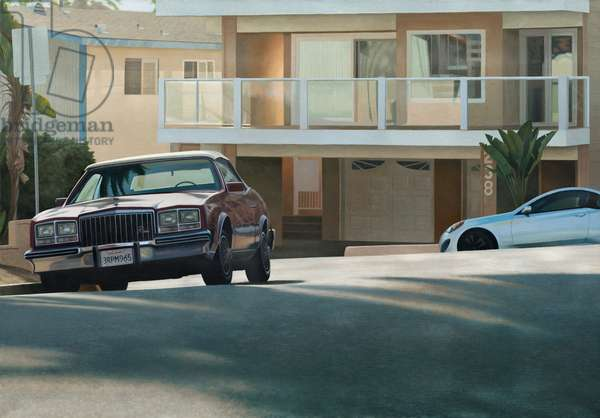 California Suburb Late Afternoon, 2017 (oil on linen)