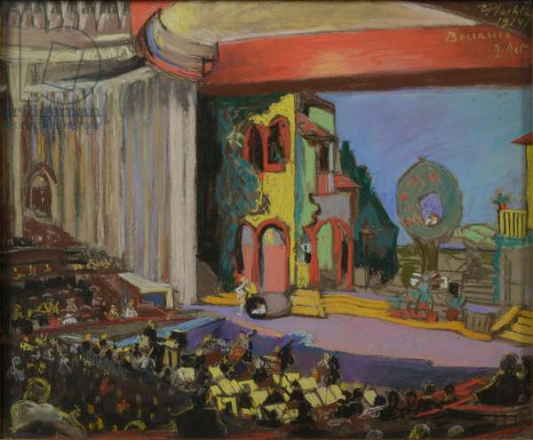 Boccaccio, Act II, 1924 (pastel on paper)