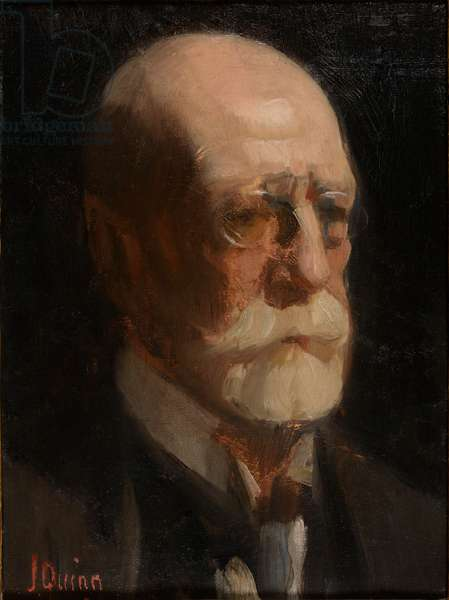 Portrait of a man with a beard (oil on canvas)
