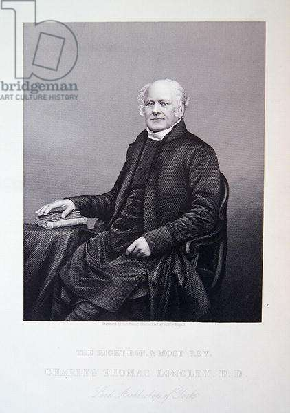 His right honourable and most reverend Charles Thomas Longley, from 'The Drawing-Room Portrait Gallery of Emminent Personages', 1861 (steel engraving)