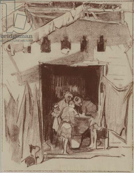 Washing, Marrakesh, 1926 (chalk on paper)