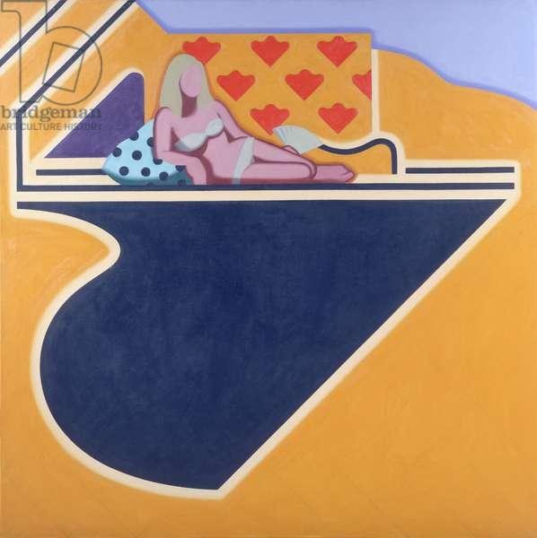 Poolside, 1967 (oil on canvas)