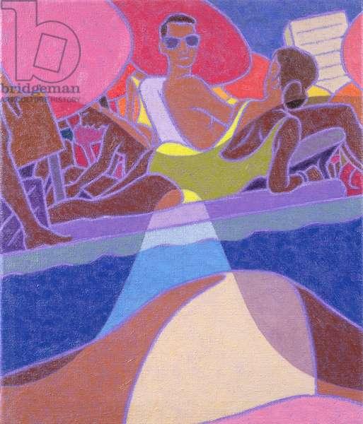 Across the Pool, 1997 (oil on canvas)