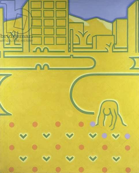 Suburb, 1965 (oil on canvas)