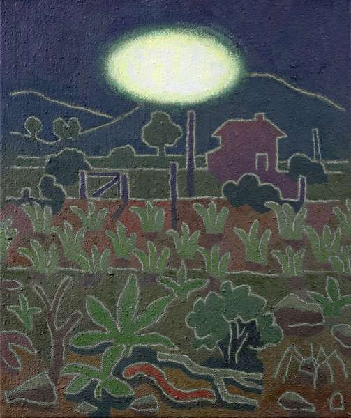 UFO and Worm, 1985 (oil on canvas)