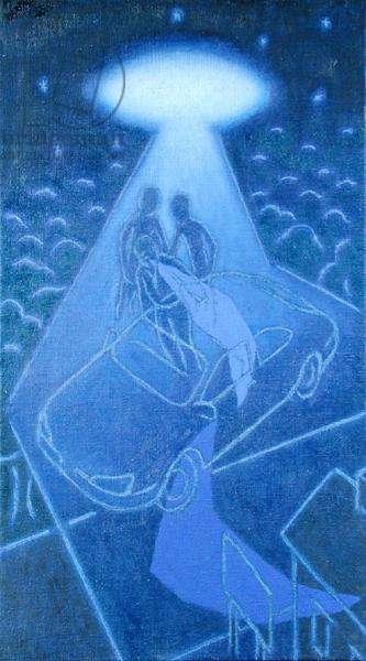 In Suspense, 1997 (oil on canvas)