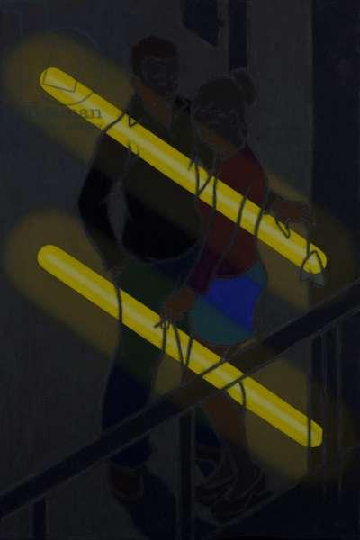 Cigarette Break, 2005 (oil on canvas)