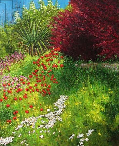 Flowered embankment (oil painting)
