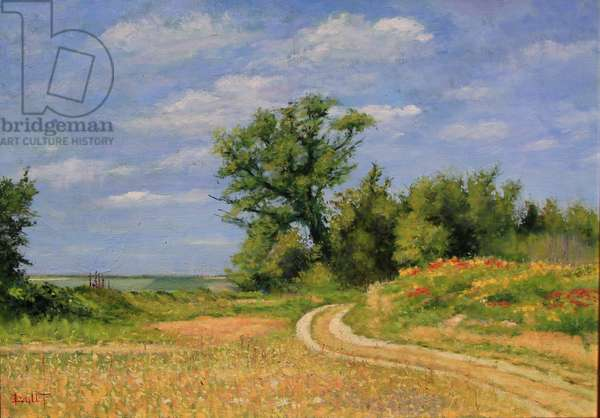 Country road nature oil, 2017 (oil on canvas)