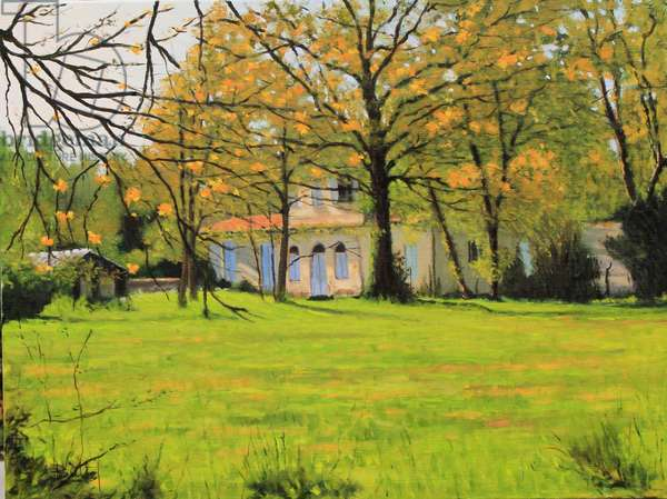 Maison Girondine oil, 2018 (oil on canvas)