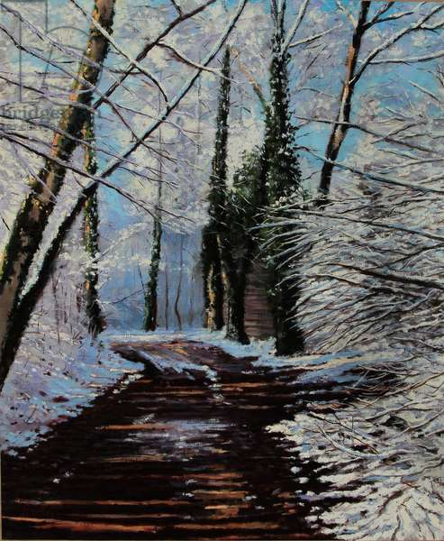 Snow Path (oil painting)
