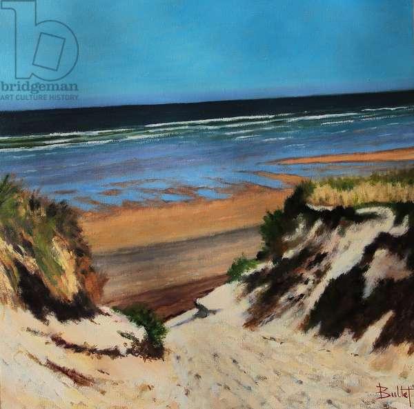 Gironde Beach Path (oil painting)