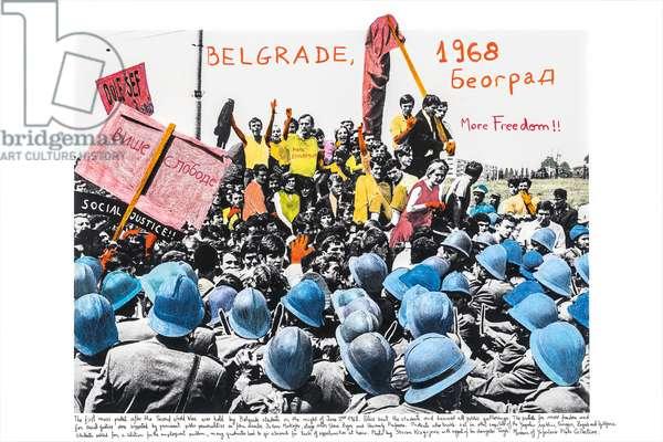 Belgrado, 1968, 2014-18 (ink pigment print on Hahnemühle paper)