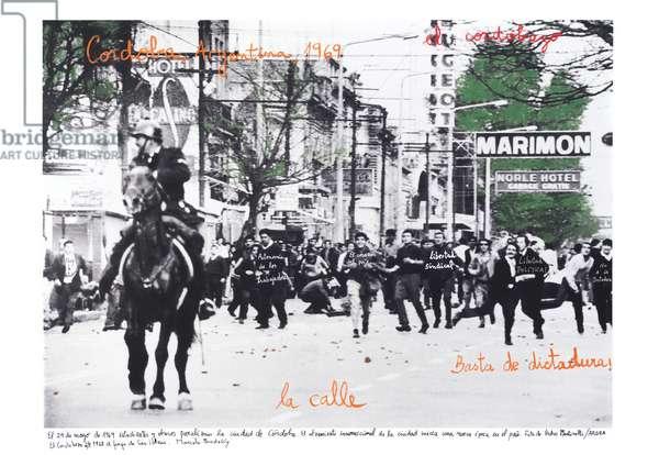 Cordobazo, 1968, 2014-18 (ink pigment print on Hahnemühle paper)