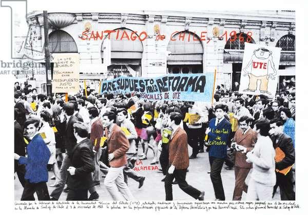 Santiago de Chile, 1968, 2014-18 (ink pigment print on Hahnemühle paper)