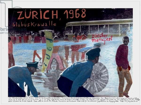 Zurich, 1968, 2014-18 (ink pigment print on Hahnemühle paper)