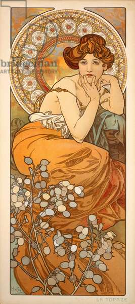 The Precious Stones: Topaz, 1900 (colour litho)