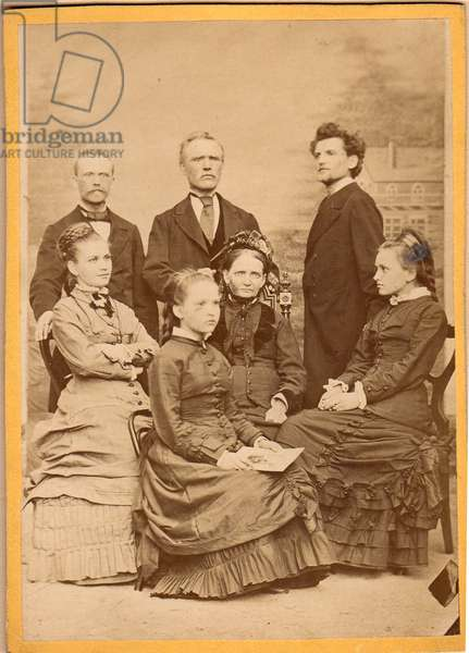 Portrait of the Mucha family, c.1880 (b/w photo)