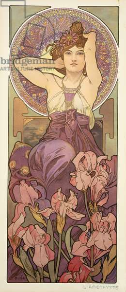 The Precious Stones: Amethyst, 1900 (colour litho)