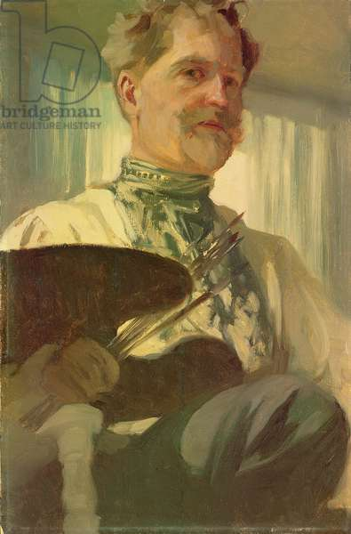 Self portrait with a palette, 1907 (oil on canvas)