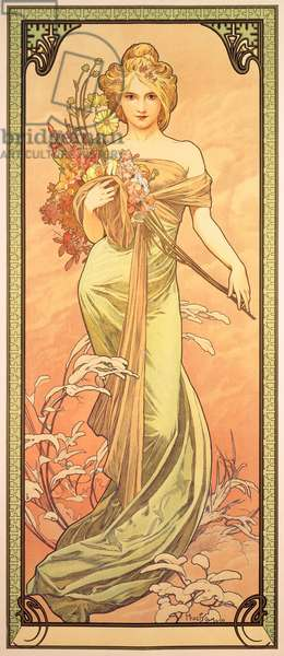 Spring, The Seasons, 1900 (colour litho)