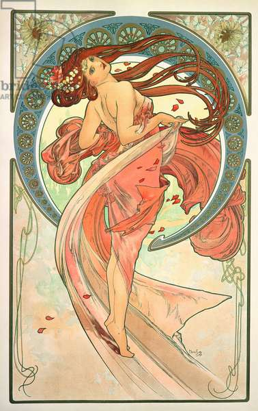 The Arts: Dance, 1898 (colour litho)