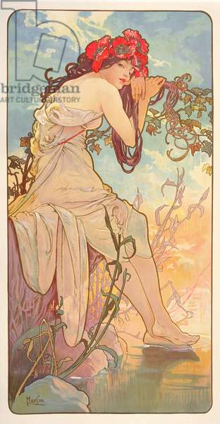 The Seasons: Summer, 1896 (colour litho)