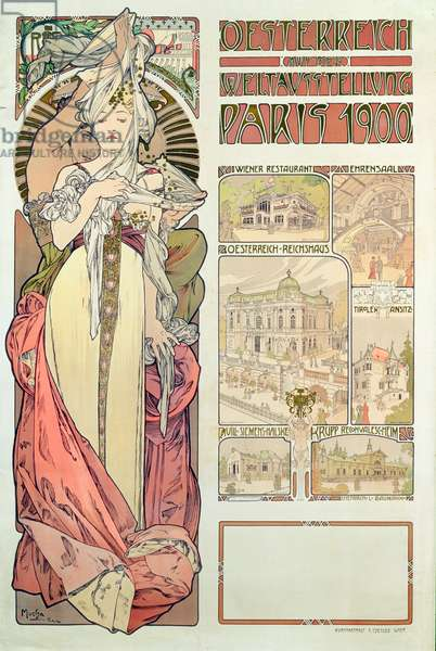 Poster advertising 'Austria at the International Exposition, Paris 1900', 1900 (colour litho)