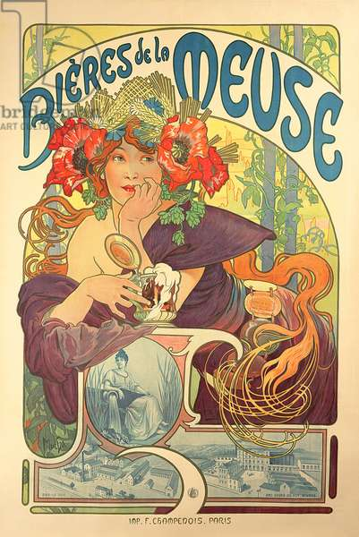 Poster advertising 'Bieres de la Meuse', 1897 (colour litho)